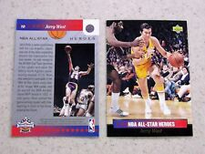 JERRY WEST 2 CD LOT 92/ 93 UD ALL-STAR WEEKEND NBA ALL-STAR HEROES LAKERS