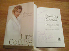 JUDY COLLINS signed SINGING LESSONS 1998 1st Edition Book with CD To Barbara COA