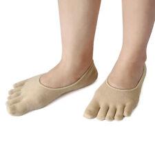 1 Pair Moisturising Comfy Spa treatment Five Toes Gel Heel Socks Skin Color