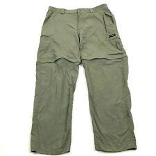 Columbia OMNI-DRY GRT Convertible Pants Men's M Green PACKABLE Nylon 28 Inseam