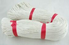86 Metres White Cotton Waxed Cord Jewellery Craft Findings - 1mm - LB1414
