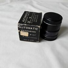 VINTAGE AUTOMATIC EXTENSION TUBE SET FOR PENTAX / PRAKTICA /YASHICA + OTHERS VG