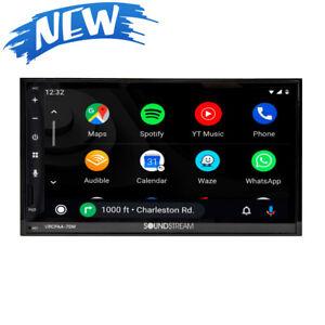 Soundtream 2 Din VRCPAA-70M Digital Media Player Android Auto CarPlay Bluetooth