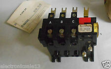 SQUARE D MANUAL / AUTOMATIC BIMETALLIC OVERLOAD RELAY TYPE MTA-7, 4,5 - 6,7A