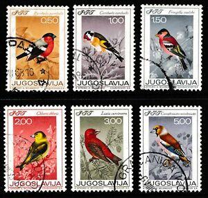 Yugoslavia 1968 Song Birds - Used Set - Cat £5 - (209)