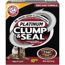 Arm & Hammer Clump & Seal Platinum Cat Litter Multi-Cat, 40 lb
