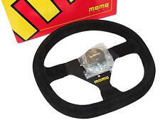 MOMO Steering Wheel - Mod 88 (320mm/Suede/Black Spoke/Flat Bottom)