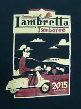 Lamberetta Jamboree 2015 L Scooter Black T-Shirt Graphic Tee Pasadena Cotton