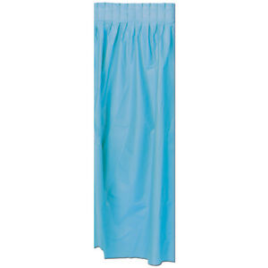 Beistle 1-Pack Plastic Table Skirting, 29-Inch by 14-Feet, Light Blue