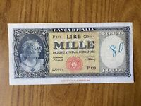 REPUBBLICA ITALIANA BANCONOTA Lire 1000 ITALIA MEDUSA 1947