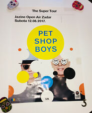 POSTER PET SHOP BOYS gira SUPER