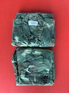 Vtg 1960's Early Vietnam War US ARMY ERDL Camo non Rip Stop Jungle Uniform Set.