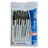 Papermate Kilometric Pens Variety Pack - 10 Pens, Black  Free Post NEW