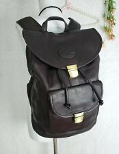 Claire Chase Genuine Leather Backpack Dark Brown Travel Hiking Rucksack Hobo