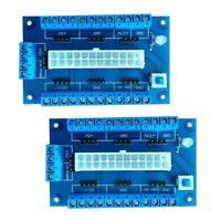 2x Module Alimentation Adaptateur Extension Cartes Mères 24/20-Pin ATX PC