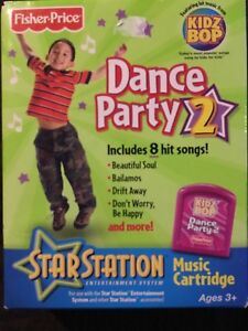 FISHER PRICE DANCE PARTY 2 STAR STATION MUSIC CARTRIDGE NEW KIDZ BOP 8 SONGS