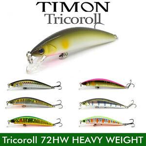 JACKALL TIMON TRICOROLL 72HW SINKING FISHING BAIT MINNOW HEAVY LURE 72mm 7.2g