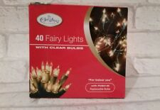 Nuevo 40 Luces de Hadas con ventana transparente Bombillas de árbol de Navidad Fiesta Decoración
