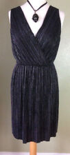 Red Herring Black Silver Flared Grecian Cocktail Party Prom Dress Size12