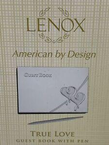 Lenox True Love Guestbook With Pen - Silver-plate Wedding Signature Keepsake New