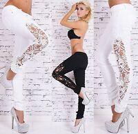 Fashion Women Casual Skinny Leg Denim Jeggings Pencil Pants Lace Jeans Trousers