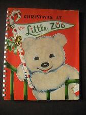 CHRISTMAS AT THE LITTLE ZOO circa 1950 spiral bound original Beth Vardon
