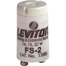 100 Pk Leviton 14W 15W 20W 2-Pin FS-2 T8 Fluorescent Light Starter 002-13886-000