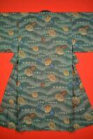Vintage Japanese Kimono Wool Antique BORO JUBAN Kusakizome MEN Dyed/XR01/495