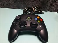 OEM Microsoft Original Xbox Controller S Black  Tested Clean