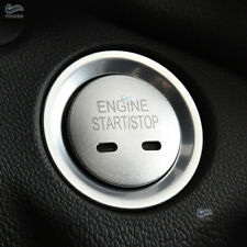 2*Alloy Silver Start Stop Push Switch Button+Ring Cover For Chevrolet Explorer