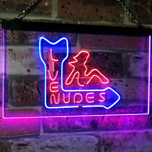 Live Nude Girls Bar Beer Bar Dual Color Led Neon Sign st6-i2042