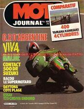 MOTO JOURNAL  501 YAMAHA XJ 400 KAWASAKI Z400 J Z SUZUKI DR 500 Cagiva Rx 125