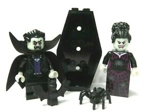Lego Dracula Vampire Minifigure Spider Witch Bride & Coffin Halloween Monster