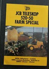 JCB Teleskop 520-50 Farm Special Schlepper Traktoren Prospekt