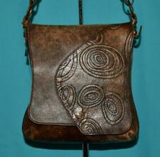 VELEZ BAGS COLOMBIA Brown embossed Leather Shoulder Cross-body Purse Bag