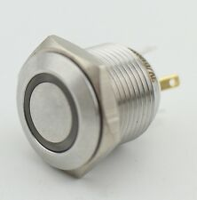 16mm Thread 3V Orange LED Stainless Steel Momentary Push Button Switch 1NO 4Pin
