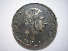 SBA41 Philippines 50 centavos de peso 1881 silver