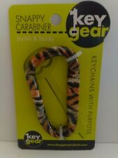 KEY GEAR SNAPPY CARABINER TIGER KEY CHAIN FOB ANIMAL KEYCHAIN