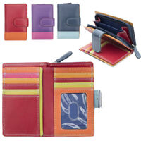 Ladies Luxury Multi Colour Leather Purse Wallet Coin Holder RFID Blocking