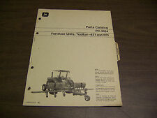 12054 John Deere Parts Catalog Pc-1024 Distributor Unit Toolbar 451 651 sep 71