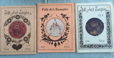 THREE (3) BOOKS - FOLK ART SAMPLER by Jo Sonja  - Great / Excellent Condition