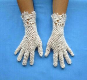 Gestrickte Ziegenfalum Handschue Fingerhandschuhe Damenhandschuhe Handmade