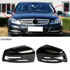 Black Left Right Side Wing Mirror Cover Fit For Benz S C E Class W204 W246 W242