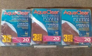 3ct Aquaclear Activated Carbon, 3 Pack Articles Filter Media 18-76L / 5-20 G