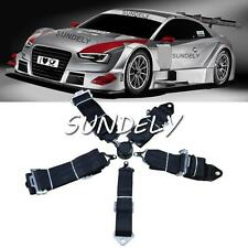 Seat Belt 5 Point Racing Harness Kit Quick Release Track / Race /Drift Car Black