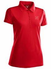 NWT Nebraska Cornhuskers Womens Pique Xtra Lite Polo Shirt by Antigua Red Large