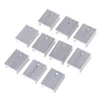 10pcs Aluminium Heat Sink Transistor Radiator for TO220 Triode 20*15*1 ro
