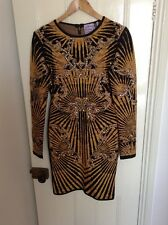 Herve Ledger dress From Net A Porter, Black & Gold Studded Bodycon RRP £2,200