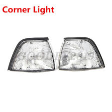 Pair EURO CORNER LIGHTS - CLEAR for 92-98 BMW E36 3-SERIES 4DR COUPE/CONVERTIBLE