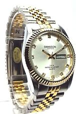 Swanson Men Two-tone, 12 Sapphire crystal, White Dial Dress Watch